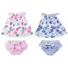 Summer Infant Baby Girl Floral Romper Bodysuit Jumpsuit Headband Outfits Clothes