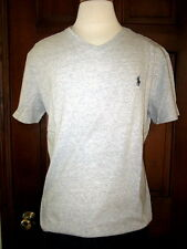 Polo Ralph Lauren Gray Heather V-Neck T-Shirt Gray Polo Pony M L XL XXL NWT