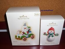 2007 HALLMARK SANTA'S SWEET RIDE #1 SERIES - WELCOME FRIENDS SNOWMAN YOUR CHOICE