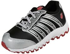 K-SWISS 22282-033 TUBES RUN 100 Inf's (M) Black/Silver/Red Mesh Running Shoes