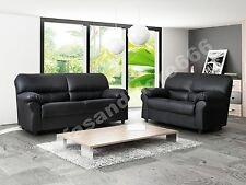 BRAND NEW-CANDY-SOFA SET ONLY 3+2 SEATER-BROWN OR BLACK-FABRIC FAUX LEATHER