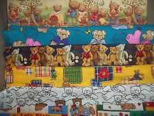 BEARS teddy novelty RUSTIC BTY Cotton QUILT Fabric U-PICK see listing for detail