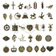 2-100pcs Antique Brass Spacer Metal Key Jewelry Finding