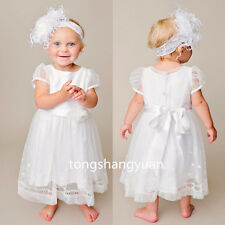 2017 Infant Baptism Outfit Dresses Lace White Ivory Christening Gown 0-24 Months