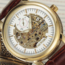 Mechanical Gents Wrist Automatic Sewor Fashion Skeleton Casual Mens Watch 633-2