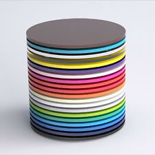 Round Acrylic Placemat, Mix & Match, Kitchen, Dining, Table, Outdoor, 45 Colours