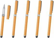 5x Orange Pro Stylus with BallPoint Pen ULTRA-SMOOTH Rubber Tip Tablets iPad