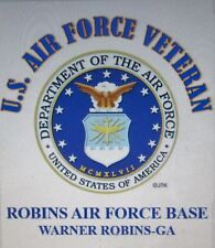 ROBINS AIR FORCE BASE*WARNER ROBIN-GA*U.S.AIR FORCE VET W/AIR FORCE EMBLEM*SHIRT