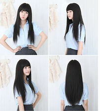 Sexy Korean Womens Party Cosplay Wigs Full Long Straight Hair Wig Fashion Wigs