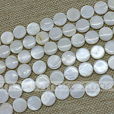 """White Natural Shell Round Shape Loose Beads 15.5"""" Inches Strand 10 12 25mm"""