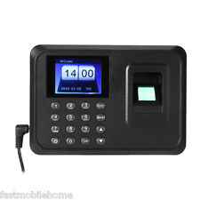 "A6 2.4"" TFT Fingerprint Time Attendance Clock Employee Payroll Recorder Black"