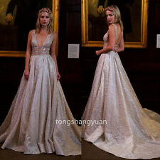 V Neck Evening Dresses Backless Formal Party Bridesmaid Gowns Sexy 2017 Custom