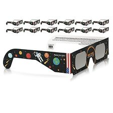 10 Pack Cool Solar Eclipse Glasses Galaxy Edition CE and ISO Standard View M1 m8