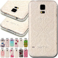 Pattern Cover Skin Soft Silicone Back Protector TPU Case For Samsung Galaxy S5
