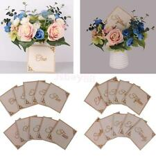10pcs/ Pack Wooden Table Number Signs Wedding Centerpiece Decorations
