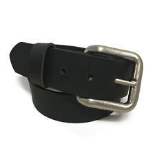 Mens Handmade Genuine Solid Buffalo Leather Belt
