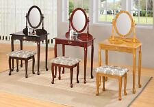 Queen Anne Vanity Table Bench Set