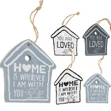 MagiDeal House Birds Rustic Wood Hanging Sign Home Wooden Wall Plaque Decoration