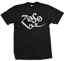 Zoso Shirt Jimmy Page Symbol Zeppelin Rock Retro Music New T shirt