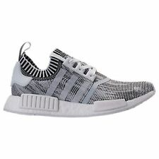 ADIDAS NMD R1 PRIMEKNIT WHITE BLACK MEN'S RUNNING GYM TRAINING ATHLETIC  SHOES