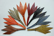 Vintage Feather Millinery Fancy Quill Trim made in France 3063 hat costume