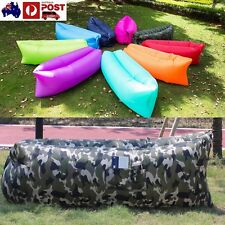 Camouflage colors Lounger Air Sofa Inflatable Sleeping Camping Beach
