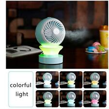LED Mini Fans Table USB Rechargeable Fan Humidifier Air Conditioner Air Coo S0