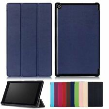 """PU Leather Stand Flip Case Cover For 8.0"""" Amazon Kindle New Fire HD8 2017 +Film"""