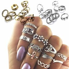 11 Pcs/set Women Fashion Jewelry Knuckle Rings Vintage Silver/Gold Plated Gifts