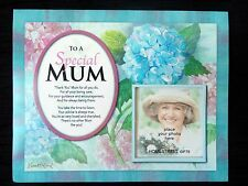 Special Mum Or Mother Flower Family & Friends Photo Mount Gift With Poem Verse