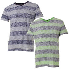 Mens Brooklyn Cloth Reverse Stripe V Neck Tee Shirt Casual Top In 2 Colours