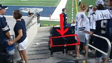 2 Dallas Cowboys vs Redskins tickets 4TH ROW FROM FIELD! AISLE SEATS!