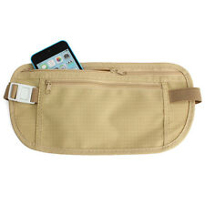 Nice Travel Pouch Hidden Compact Security Money Passport ID Waist Belt Bag