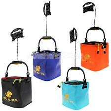 Outdoor Camping Fishing Folding Pail Collapsible Bucket Water Container