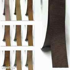"Top Quality Grosgrain Ribbon 1.5"" / 38mm Wholesale 100 Yards Ivory to Brown"