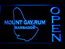 Mount Gay Rum Barbados OPEN Bar LED Neon Sign