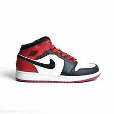 AIR JORDAN 1 RETRO (GS) 2007 WHITE BLACK TOE VARSITY RED NIKE YOUTH 307383-102
