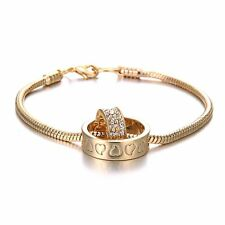 Fashion Silver/Gold Plated Crystal Rhinestone Lover Bracelet Chain Jewellery Hot