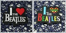 I LOVE THE BEATLES, English Rock Band Patch Iron Embroidered Applique Sew Badge