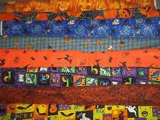 HALLOWEEN Trick Or Treat BTY Cotton QUILT Fabric U-PICK see listing for details