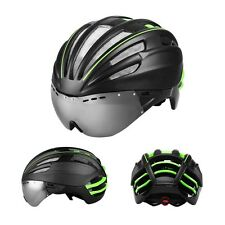 Double EPS Skating MTB Road Bike Bicycle Helmet With Cycling Glasses M/L 55-62CM