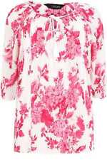 Yoursclothing Plus Size Womens Floral Blouse Sequin Detail Gypsy Top Ladies