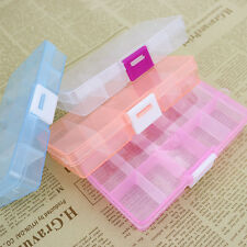 10 Grid Compartments Jewel Bead Case Cover Box Storage Container Organizer