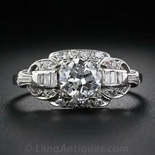 2.3CT White Topaz 925 Silver Ring Men Women Jewelry Wedding Engagement  Size6-10