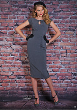 Stop Staring Timeless Fitted Dress Grey/Black Dots NWT vintage inspired