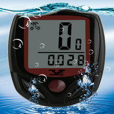 SunDing SD-548B Waterproof LCD Display Bicycle Computer Speedometer Wired Touch