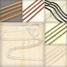 4M/13.12 feet Iron Curb Chain Unfinished Chains 2.8x1.4x0.5mm Necklace DIY