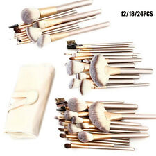 12/18/24pcs Professional  Eyebrow Shadow Soft Makeup Brush Set Kit + Pouch Bag