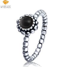 WYBEADS Unique Silver Color Birthday Blooms Rings For Women Female Wedding Party