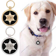 Pet ID Tag Dog Tags Custom Engraved Identification Tags for Dogs Cats Sheriff